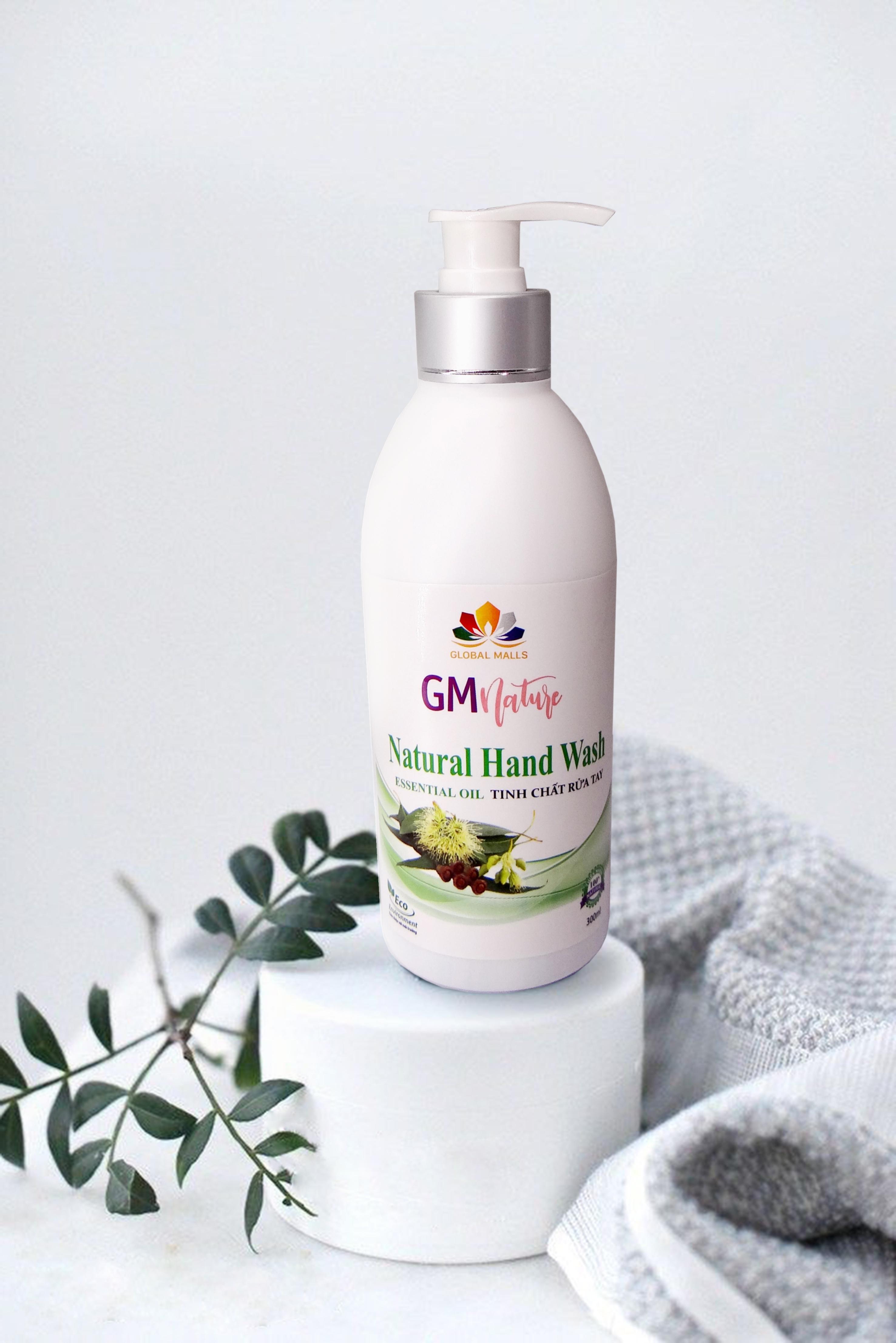 Nước rửa tay tự nhiên GMnature có thể diệt khuẩn tối ưu và có kiểu dáng độc đáo